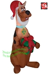 3' Scooby Doo Holding A Present