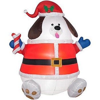 Gemmy Airblown Inflatable Snowman Holding a Hunting Rifle