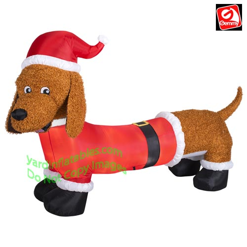 6 12 mixed media fuzzy dachshund wiener dog - Labrador Outdoor Christmas Decoration