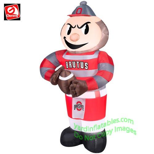 Gemmy Airblown Inflatable Ohio State Brutus Buckeye Mascot