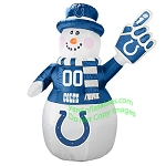 7' Air Blown Inflatable NFL Indianapolis COLTS Snowman