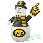 7' Air Blown Inflatable NCAA Iowa Hawkeyes Snowman