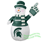 7' Air Blown Inflatable NCAA Michigan State Spartans Snowman