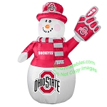 7' Air Blown Inflatable NCAA Ohio State Buckeye Snowman