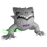 7' NCAA Inflatable TCU Horned Frog Mascot