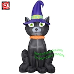 Black Cat w/ Witch Hat