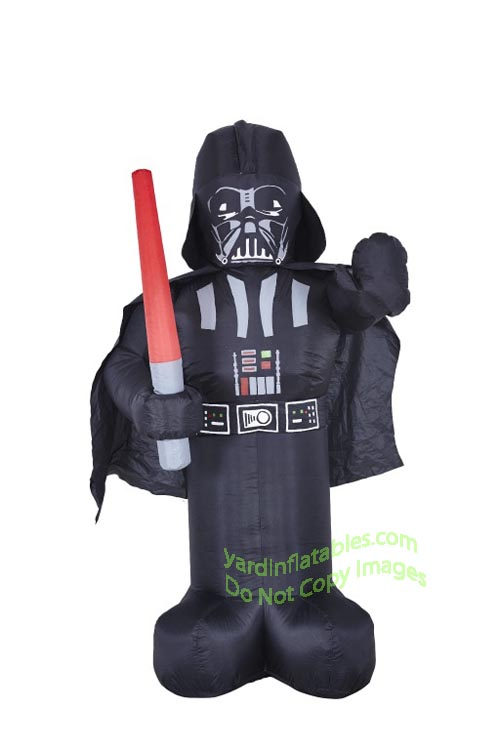 6 star wars darth vader holding light saber - Star Wars Blow Up Christmas Decorations