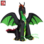 6' Kaleidoscope Green Dragon w/ Wings
