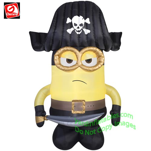 gemmy airblown inflatable minion dressed as a pirate
