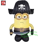 9' Eye Matie Minion Dressed As A Pirate