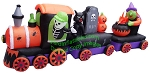 Halloween Train With Tombstone, Witch,  and Cauldron