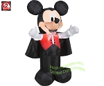 3 1/2' Mickey Dressed As Vampire With Cape