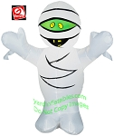 4' Inflatable Mummy w/ Green Face