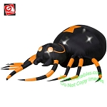 Animated 9' Orange Spider Turning Head