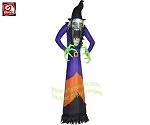 12' Photorealistic Scary Green Witch