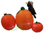 5' Air Blown Inflatable Pumpkin Patch Scene w/ Crow