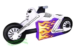7 1/2' Skeleton Motorcycle