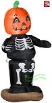 Animated Dancing Pumpkin Skeleton