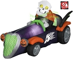 Skeleton Driving Halloween Racer