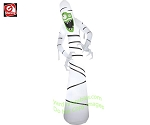 12' Skinny Slender Tall Mummy w/ Green Face