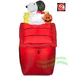 3 1/2' Snoopy Red Barron With Pumpkin