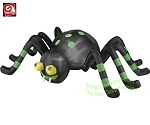 Animated Black & Green Spider w/ Spinning Eyes