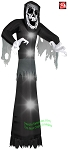 10' Airblown Inflatable Skeleton Face Reaper