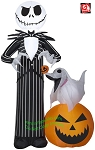 5' Jack Skellington w/ Zero on Pumpkin
