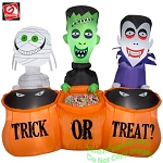 5' Trick or Treaters Trio Scene