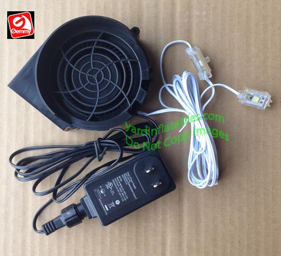 Holiday Inflatable Replacement Fan : Gemmy replacement a fan with v adapter
