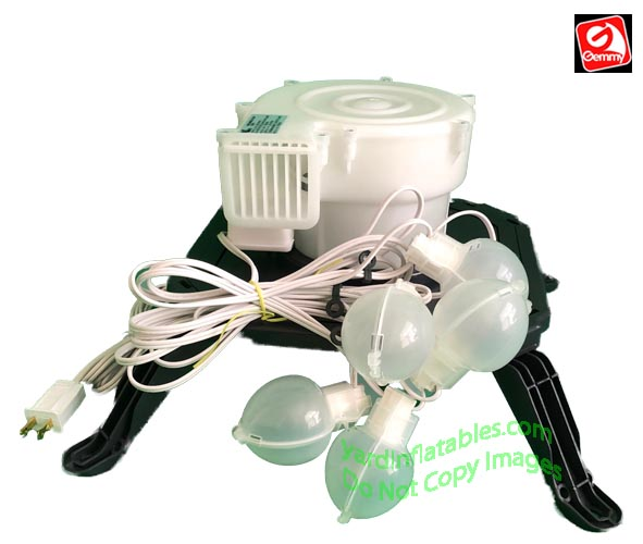 Holiday Inflatable Replacement Fan : Gemmy replacement yef blower fan base and lights