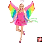 Inflatable Rainbow Butterfly Wings Costume