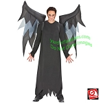 Inflatable Black/Gray Demon Wings Costume