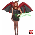 Inflatable Red/Black Devil Wings Costume