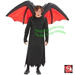 Inflatable Black/Red Devil Wings Costume