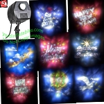 LED Lightshow Holiday Projector (8 Slides)