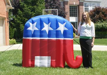Republican party gop election inflatable patriotic elephant