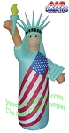 8' Air Blown Inflatable Patriotic Statue Of Liberty SKIN COLOR
