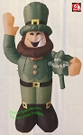 4' Inflatable St. Patrick's Day Waiving Leprechaun