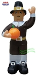 Thanksgiving Pilgrim Man Holding Pumpkin