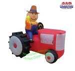 Scarecrow on RED Tractor