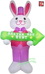 12' Easter Gentleman Bunny Holding Sign