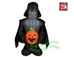 3 1/2' Star Wars Darth Vader Holding Pumpkin