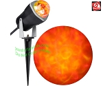 Outdoor Lightshow Spot Light - KALEIDOSCOPE Fire & Ice - ORANGE