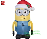 5' Minion DAVE Wearing Santa Hat