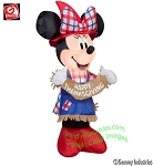 3 1/2' Minnie Mouse Scarecrow Holding Banner