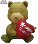 5' Mother's Day Bear Holding Heart