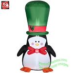 Penguin With Big Green Hat