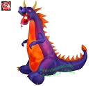 6 1/2' Projection Fire & Ice Purple Dragon