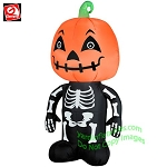 3 1/2' Skeleton Boy w/ Pumpkin Head NEW FACE